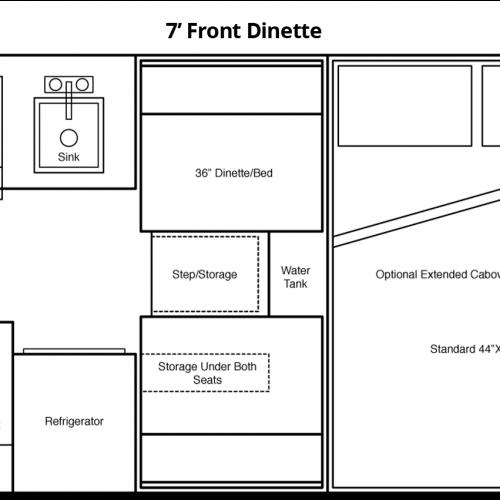 7' Front Dinette Floorplan