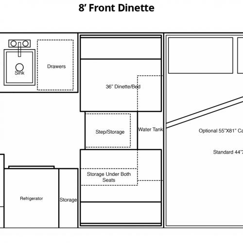 8' Front Dinette Floorplan