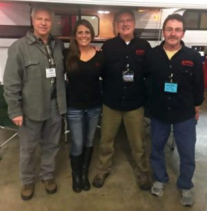 Above: John Macpherson with Dorrie Benson, Office Manager, Bryan Wheat, President, and Rick Bremgartner, Foreman